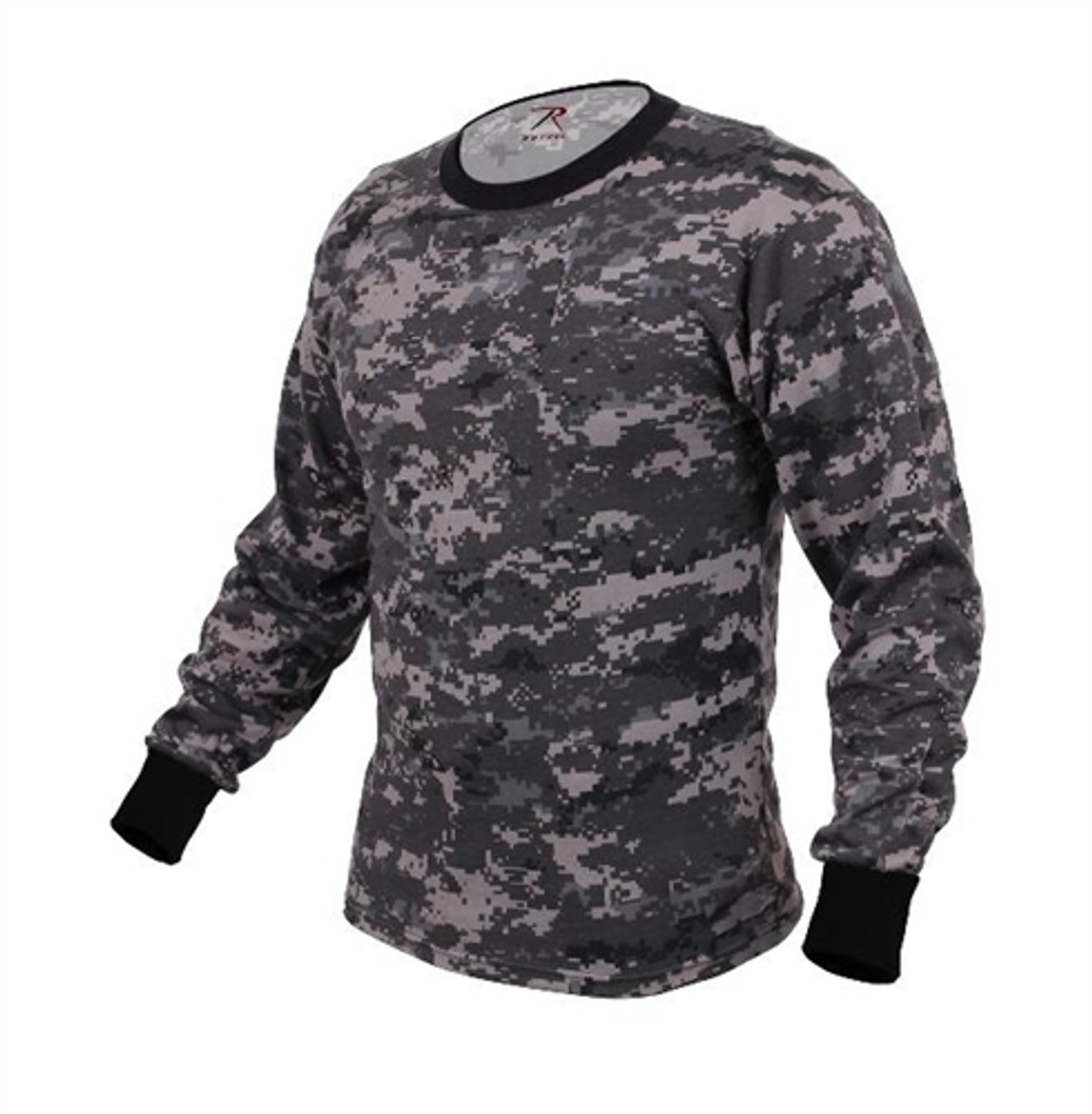 Long Sleeve Subdued Urban Digital Camo T-Shirt from Hessen Tactical