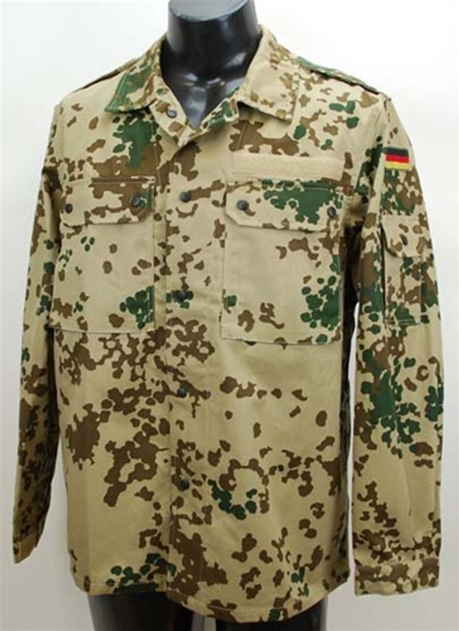 Bundeswehr Tropical Flecktarn Field Shirt from Hessen Antique