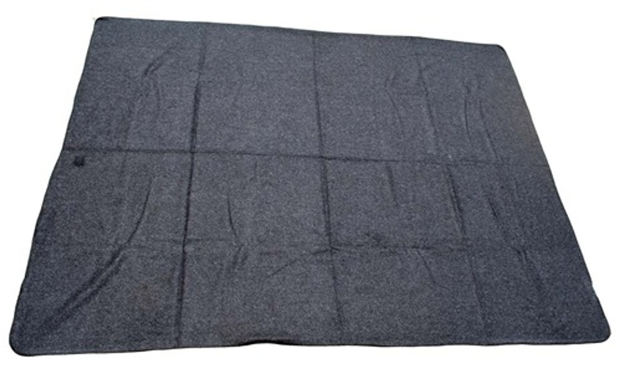 Grey Wool Blanket - New from Hessen Antique