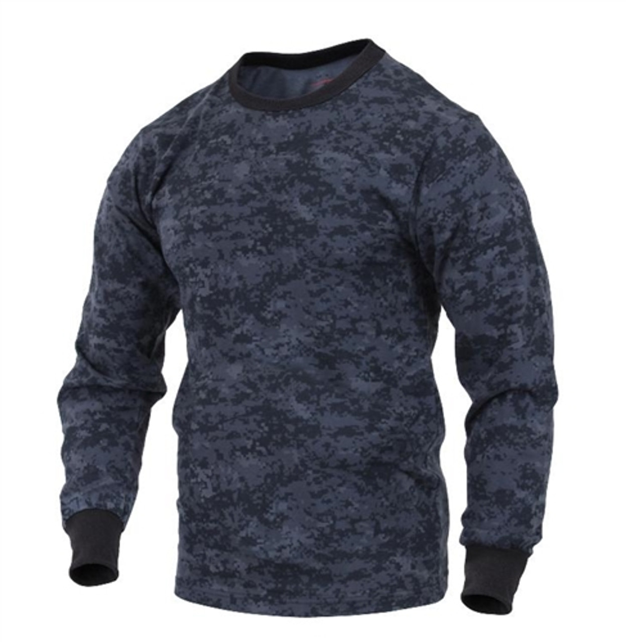 Long Sleeve Midnight Digital Camo T-Shirt from Hessen Tactical