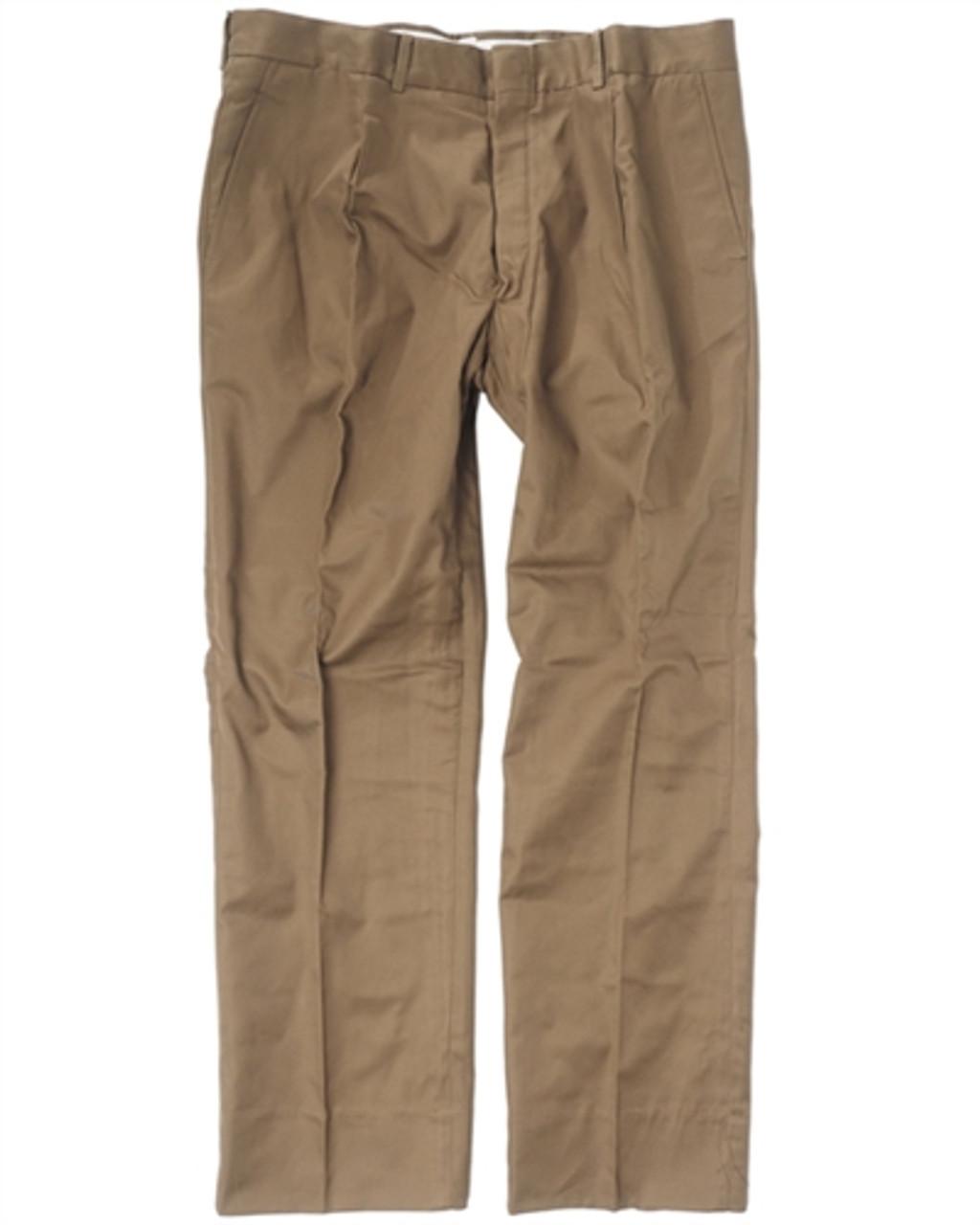 "Italian Army Dark Khaki ""Chino"" Pants From Hessen Antique"