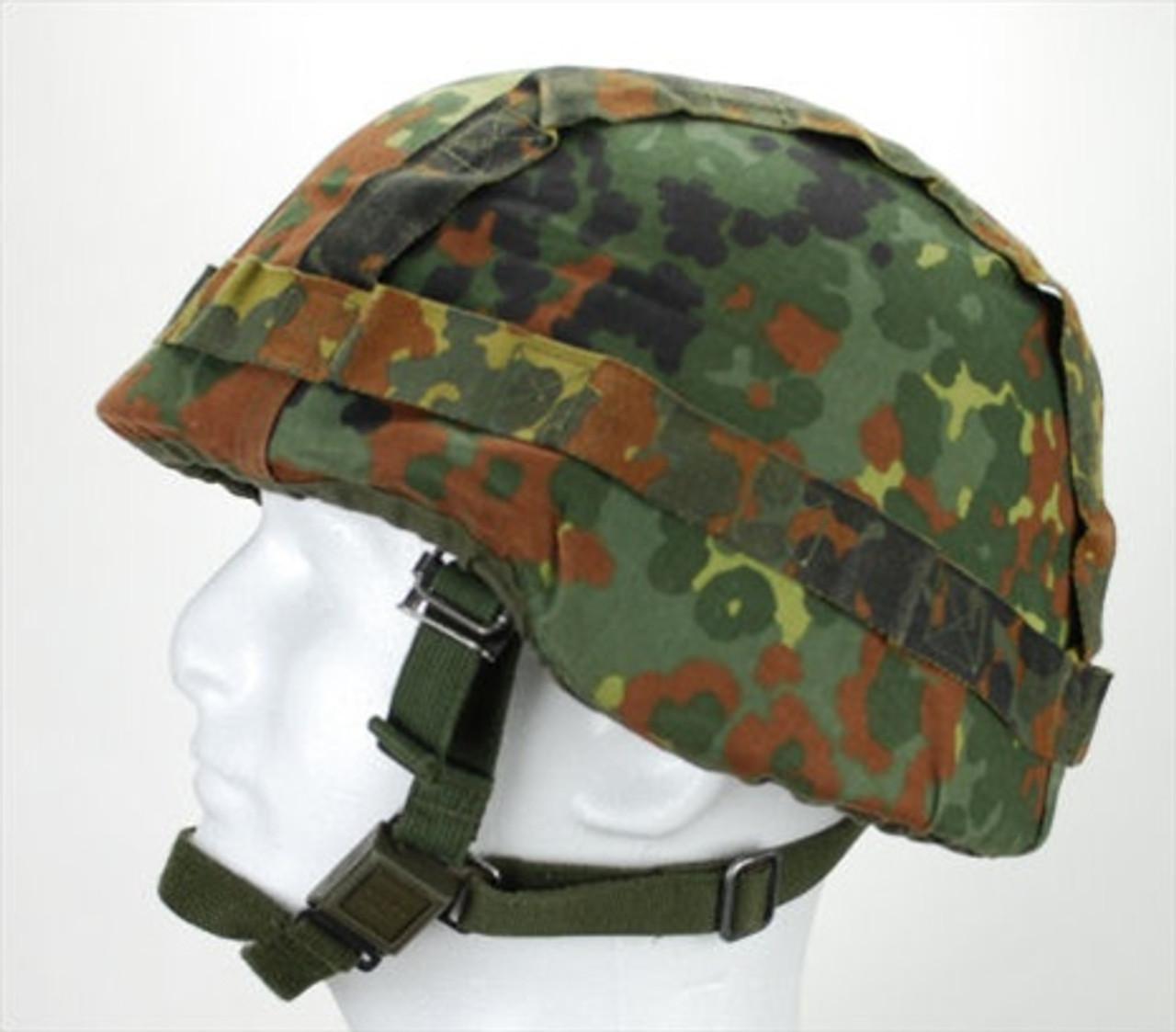Bundeswehr Flecktarn Helmet Cover from Hessen Antique