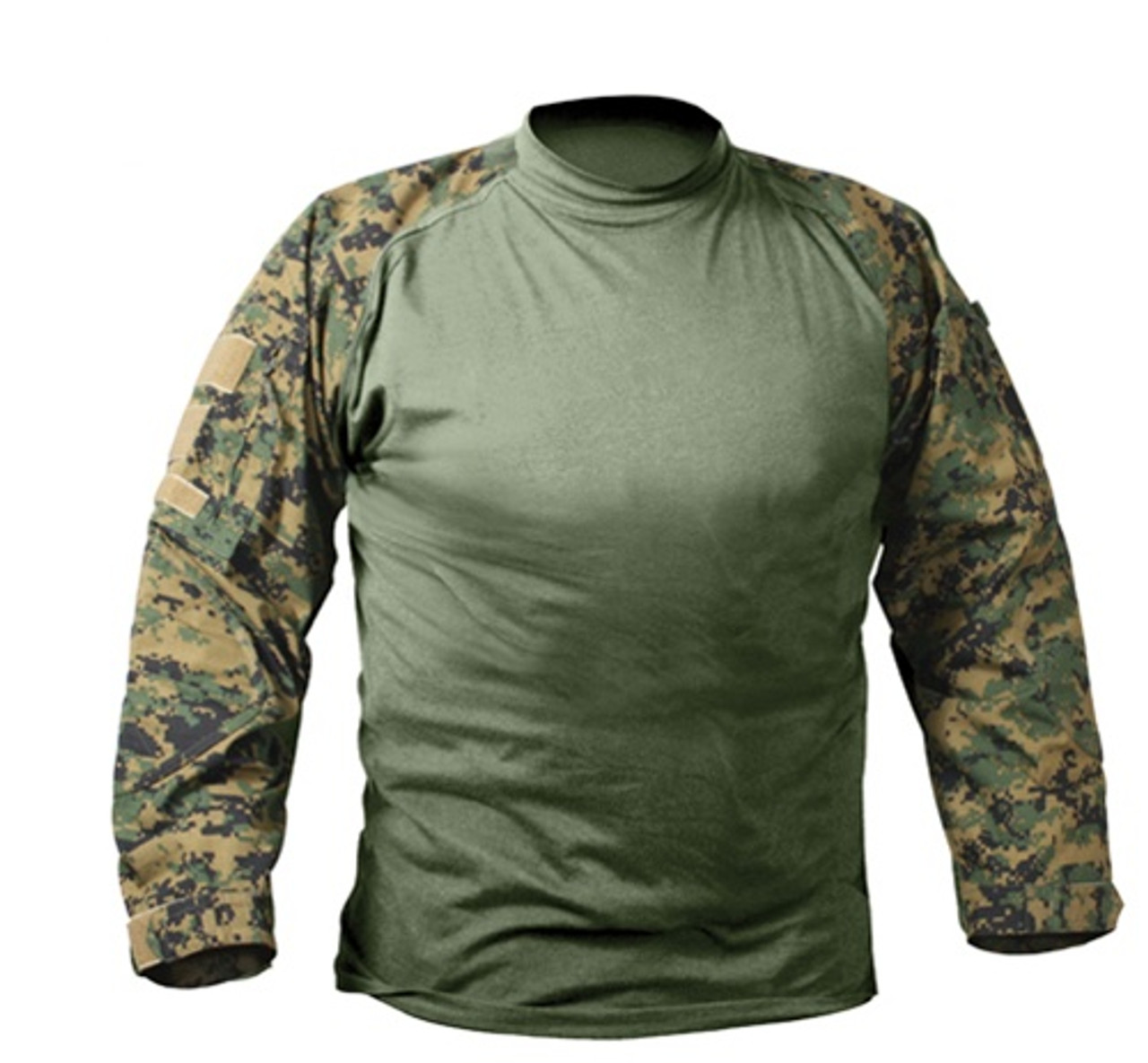 Woodland Digital Camouflage Combat Shirt from Hessen Tactical