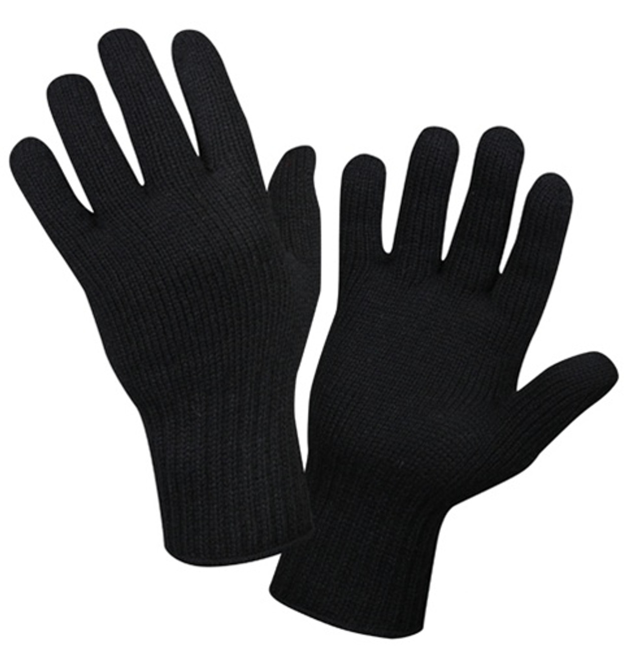 Black Wool Glove Liners from Hessen Antique