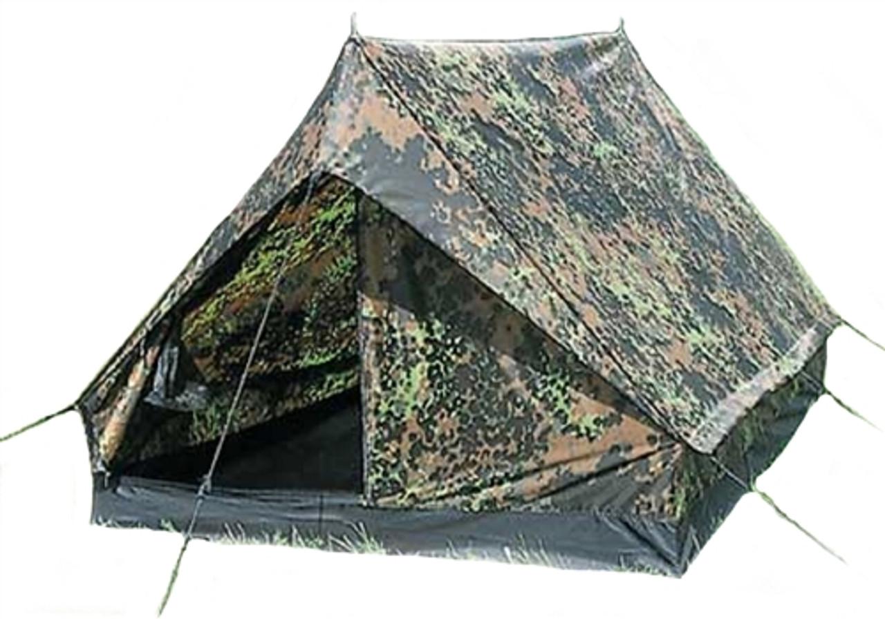 Flecktarn Camo 2-Man Mini-Pack Tent - NEW