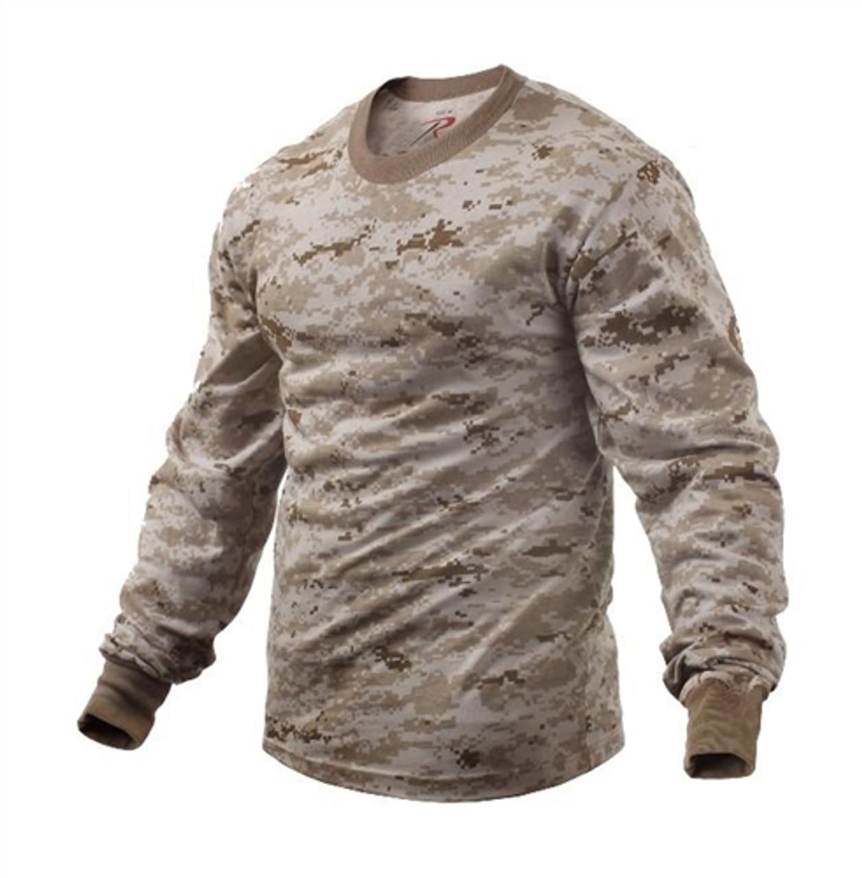 Long Sleeve Desert Digital Camo T-Shirt from Hessen Tactical