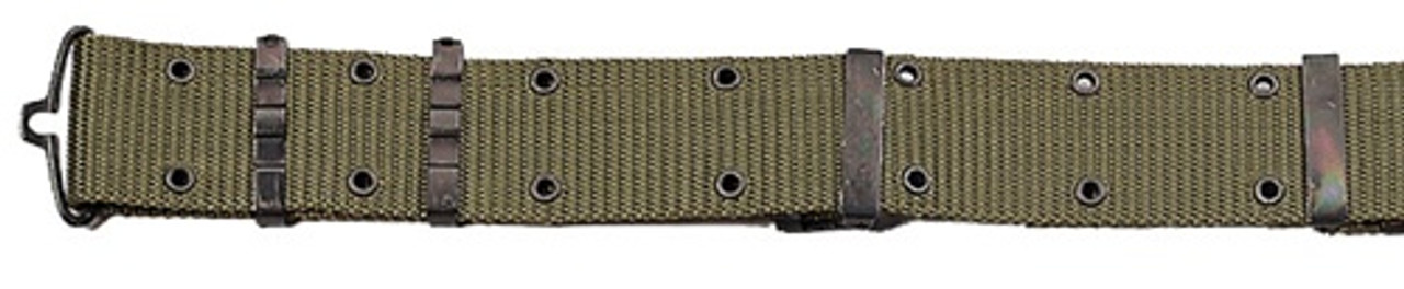 G.I. Style OD Nylon Pistol Belt with Metal Buckle from Hessen Antique