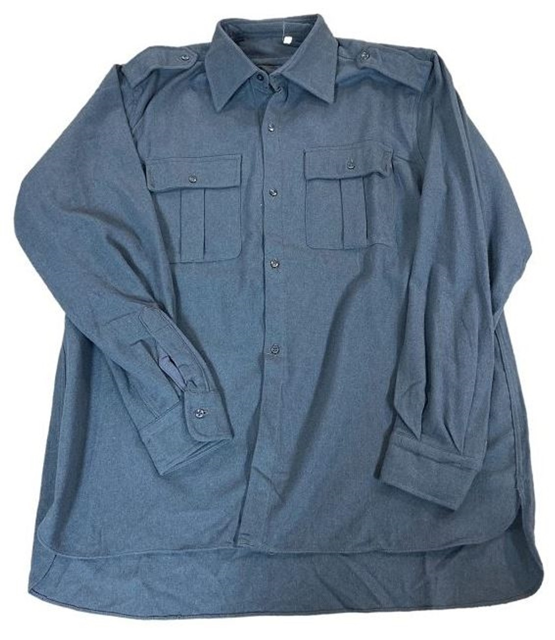 Italian Military Blue/Grey Flannel Shirt from Hessen Antique