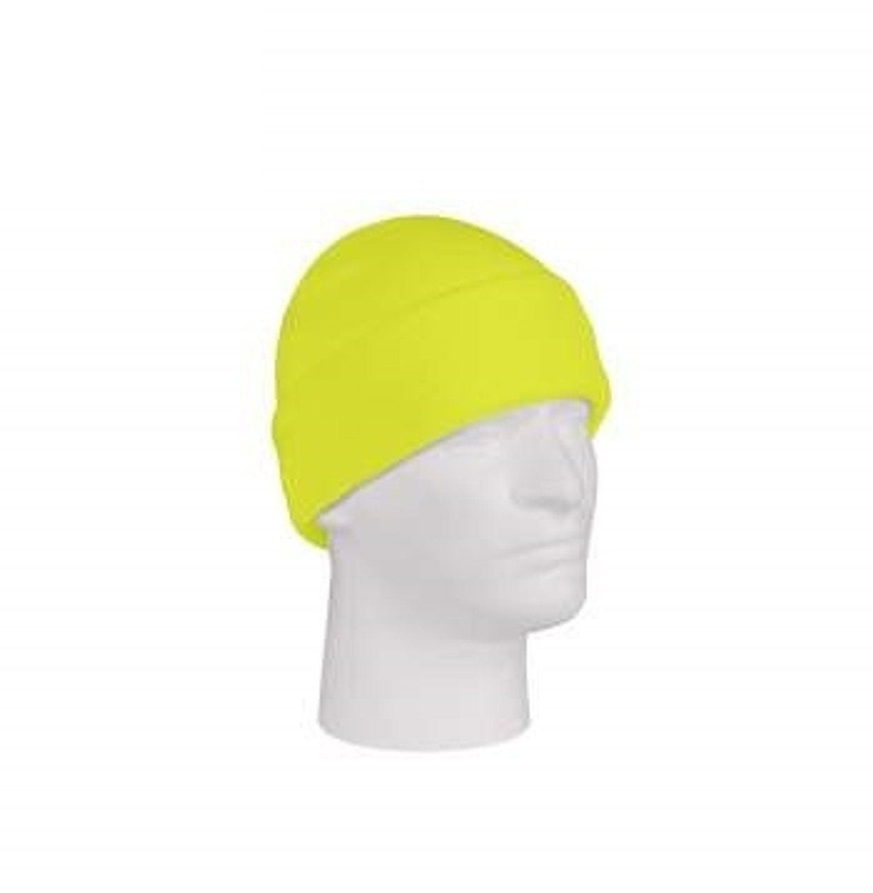 Deluxe Fine Knit Watch Cap- Safety Green