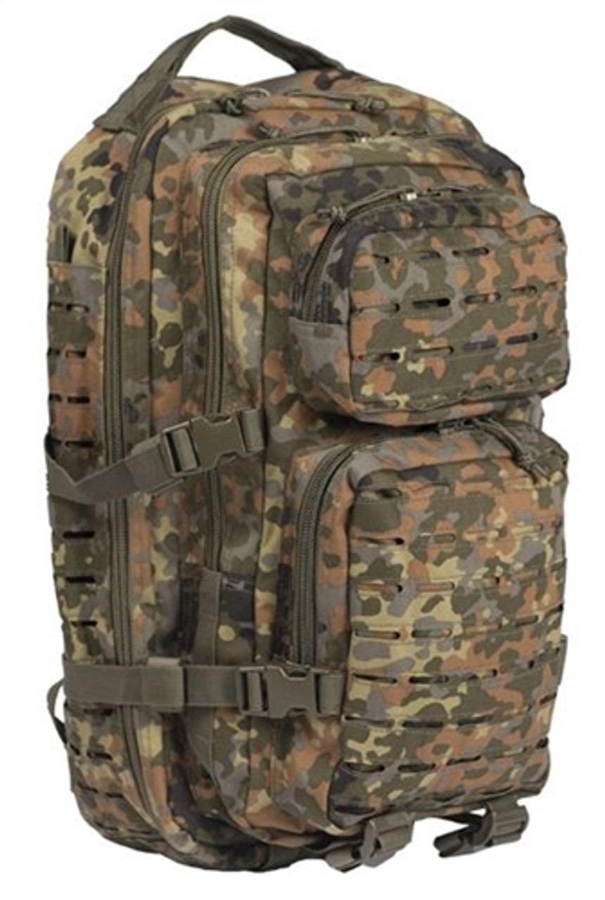 Bw Flecktarn Laser Cut Assualt Pack - Small Hessen Antique