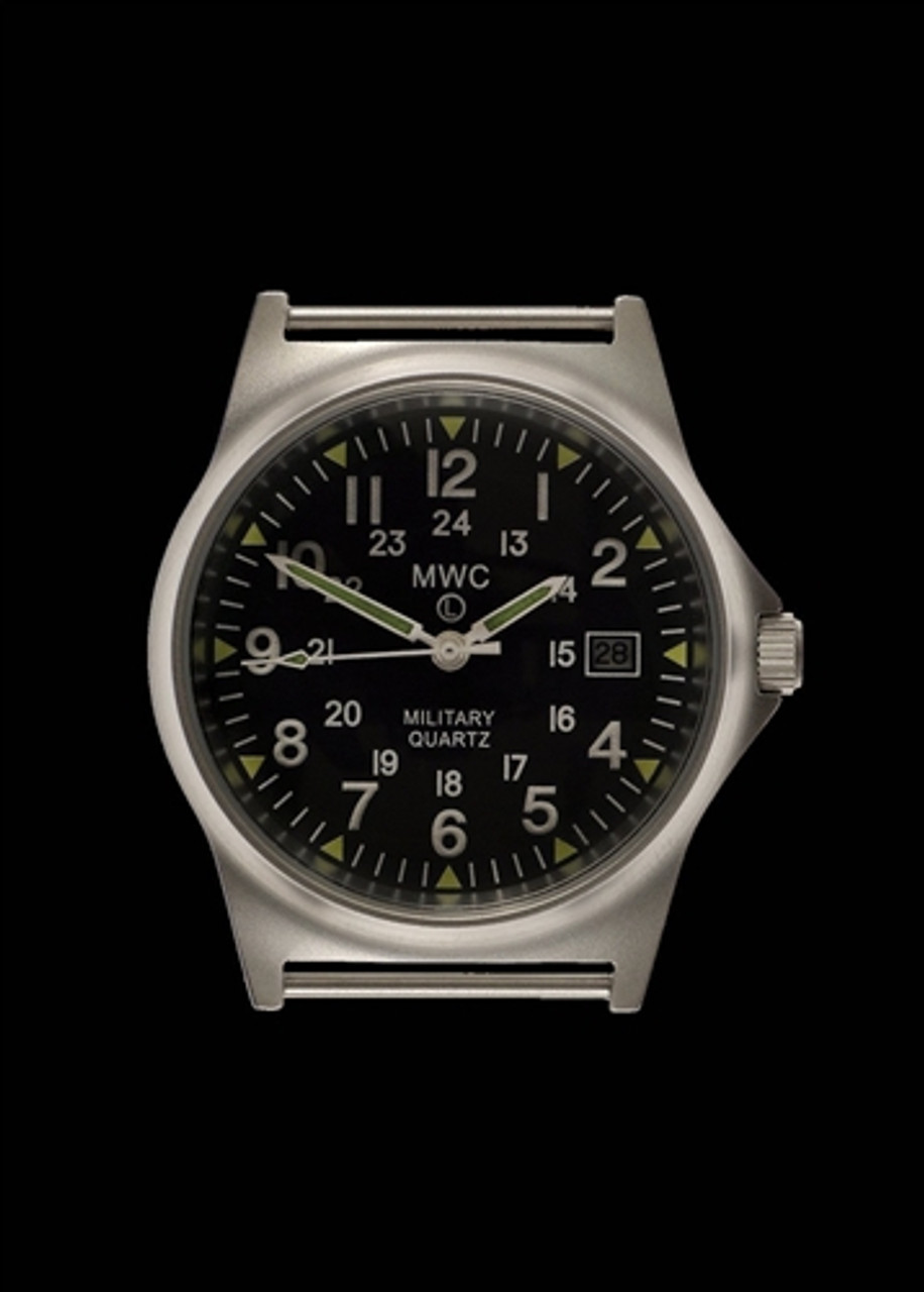 MWC G10 LM Stainless Steel Military Watch with 12/24 Hour Dial from Hessen Militaria