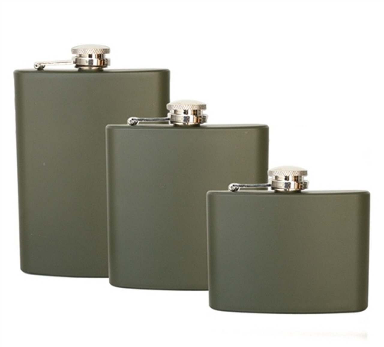 New Stainless Steel Flask - OD Green from Hessen Antique