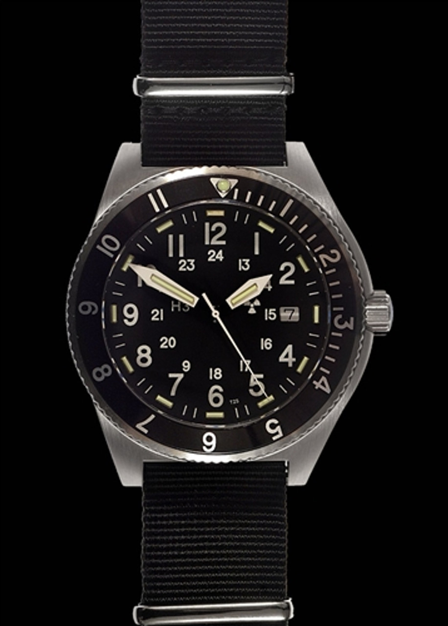 MWC 300m Water Resistant Stainless Steel Tritium GTLS Navigator Watch from Hessen Militaria