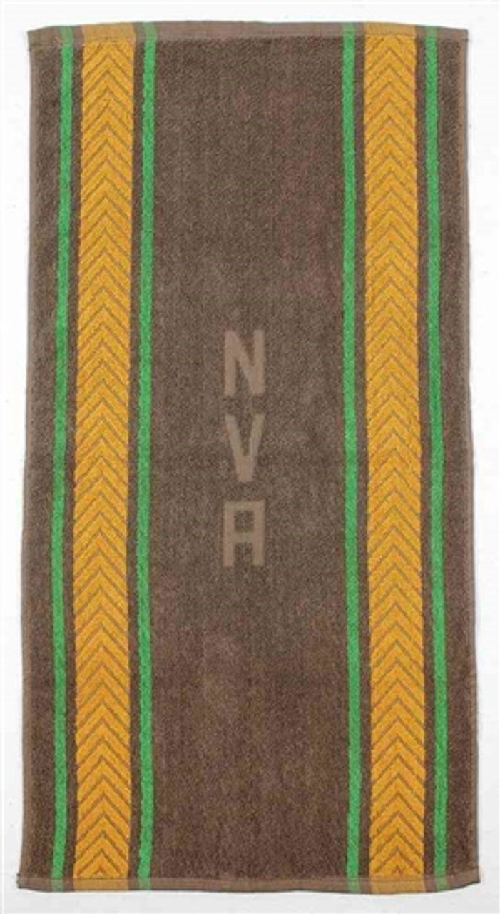 East German NVA Brown Army Hand Towel from Hessen Antique
