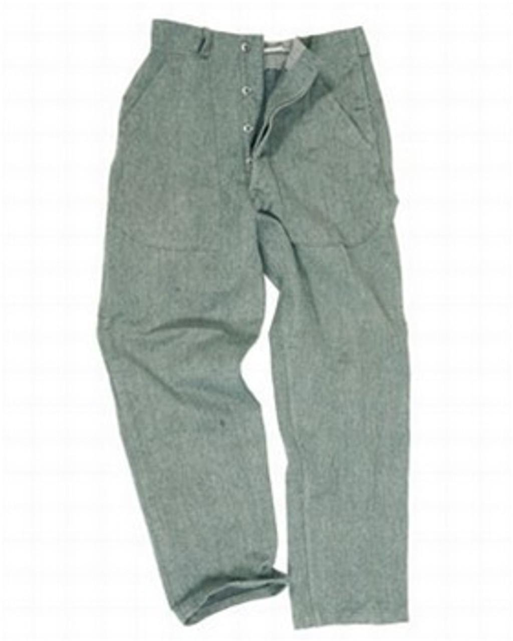 Swiss Grey Cotton Work Pants from Hessen Antique