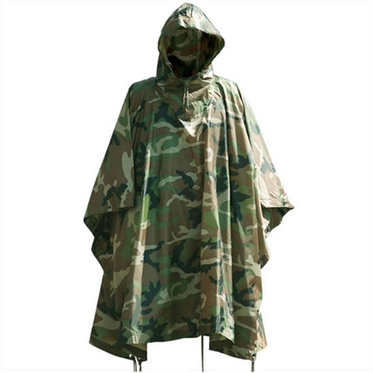 Mil-Tec Woodland Camo Wet Weather Poncho - Rip Stop from Hessen Antique