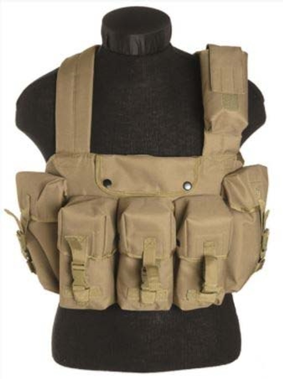 Mil-Tec Coyote 6 Pocket Chest Rig from Hessen Antique