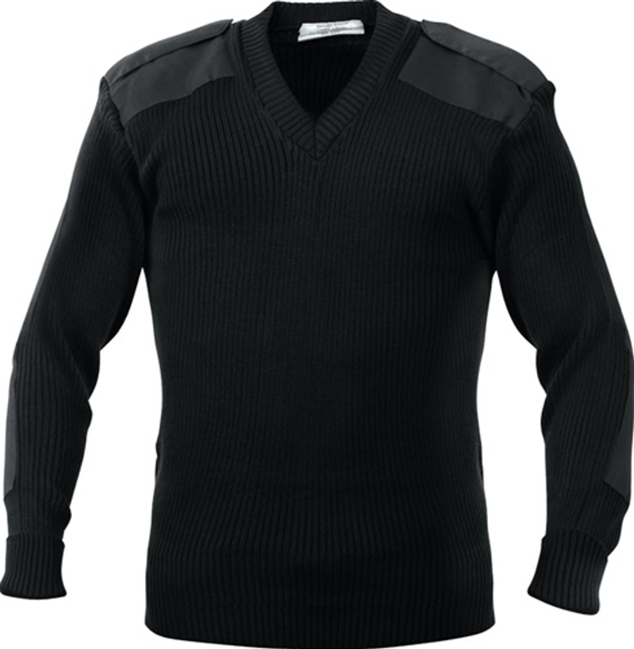 ACRYLIC V-NECK SWEATER - BLACK from Hessen Tactical