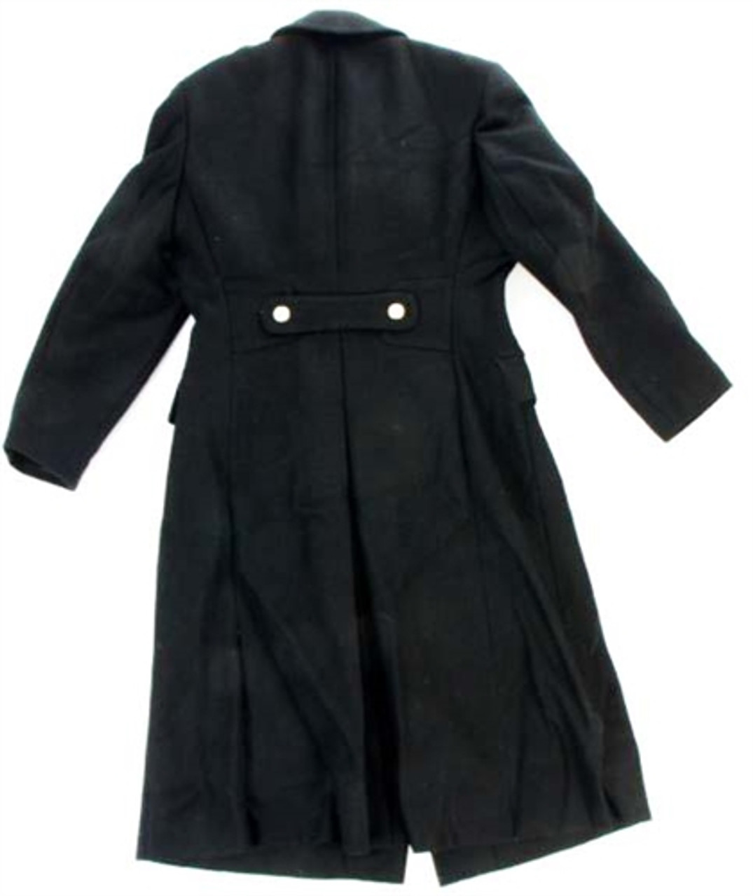 Original Russian Cadet Black Wool Overcoat from Hessen Surplus