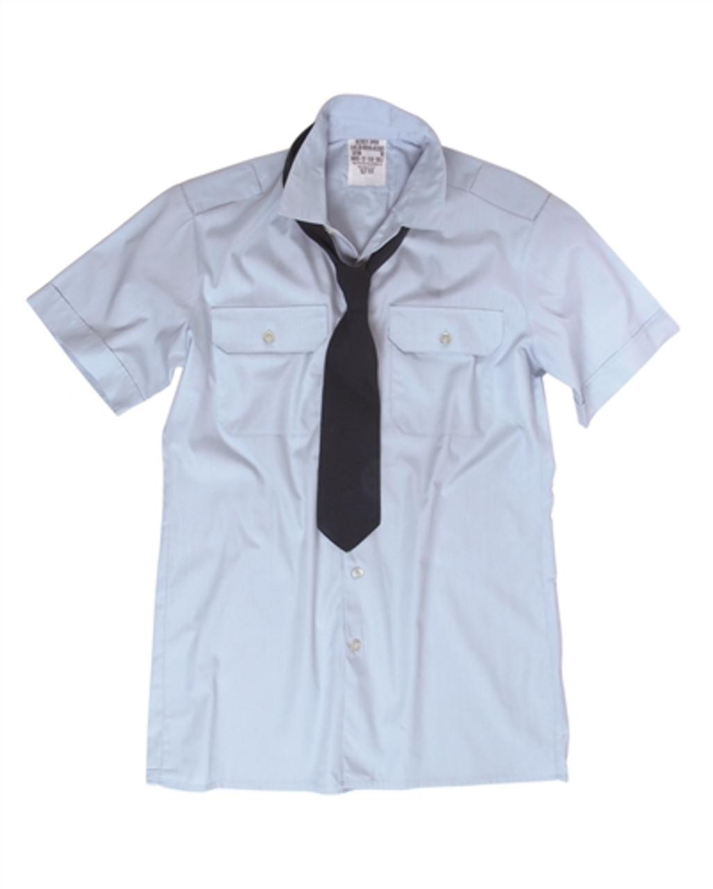 German Blue Short Sleeve Service Shirt from Hessen Surplus