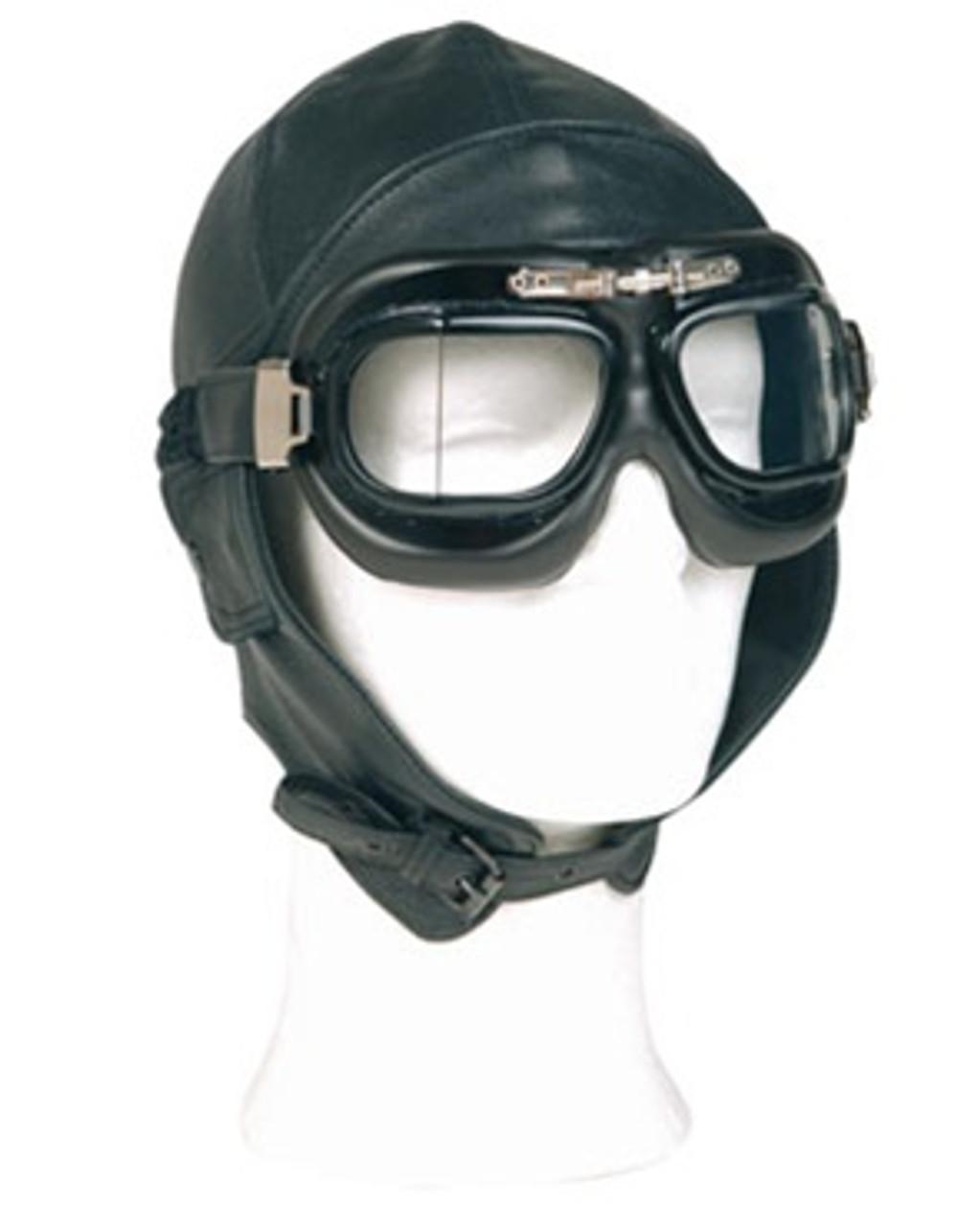 Repro German Leather Aviator Helmet from Hessen Surplus