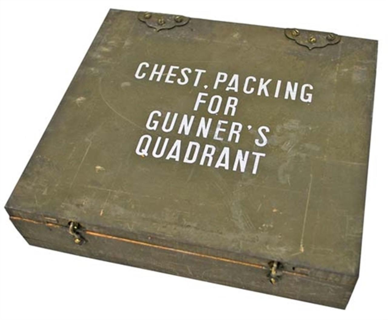 US GI Gunner's Quadrant Wooden Box - USED