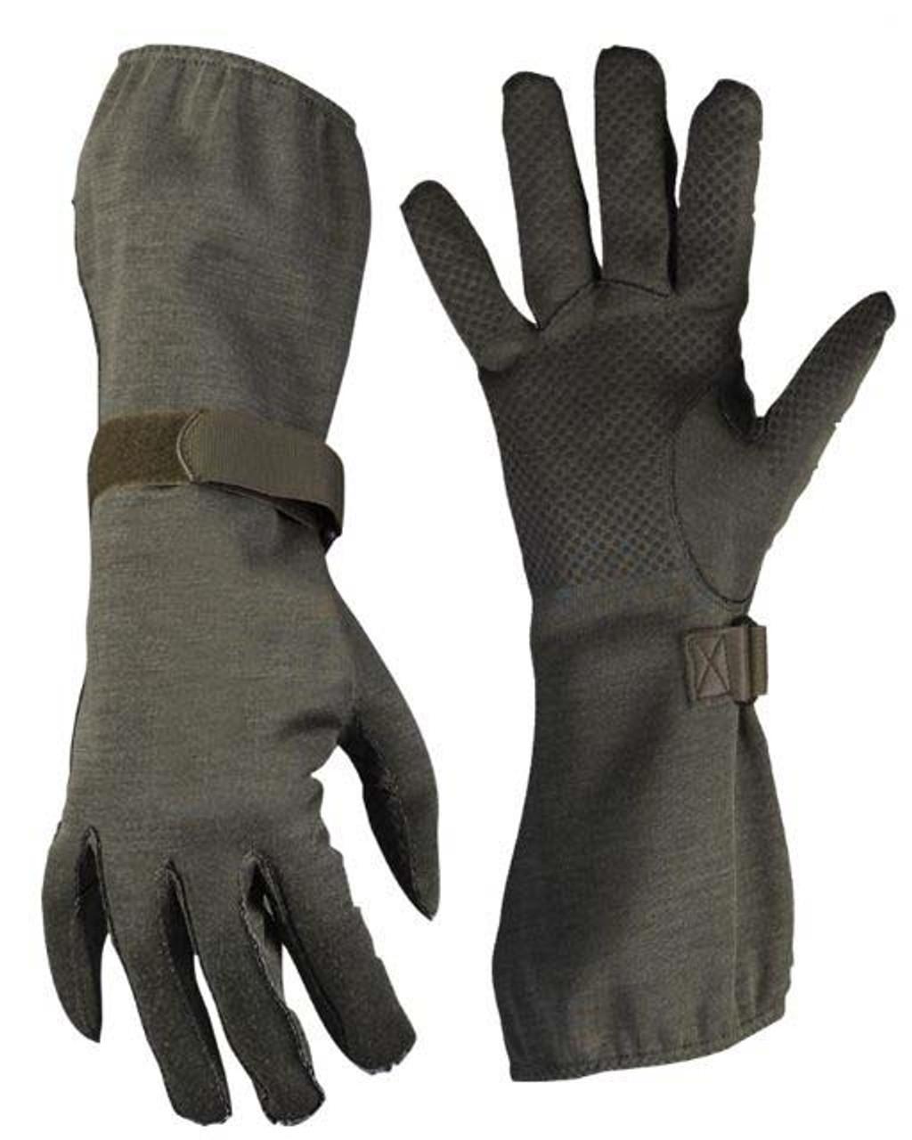 Bundeswehr OD NOMEX Flight Gloves from Hessen Antique