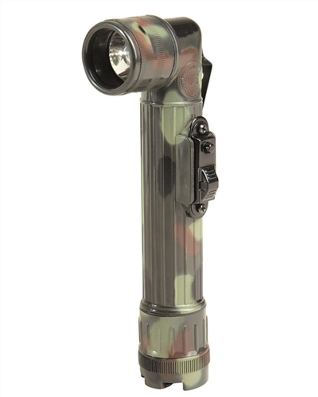 Flecktarn Camo Medium LED Angle Head Flash Light