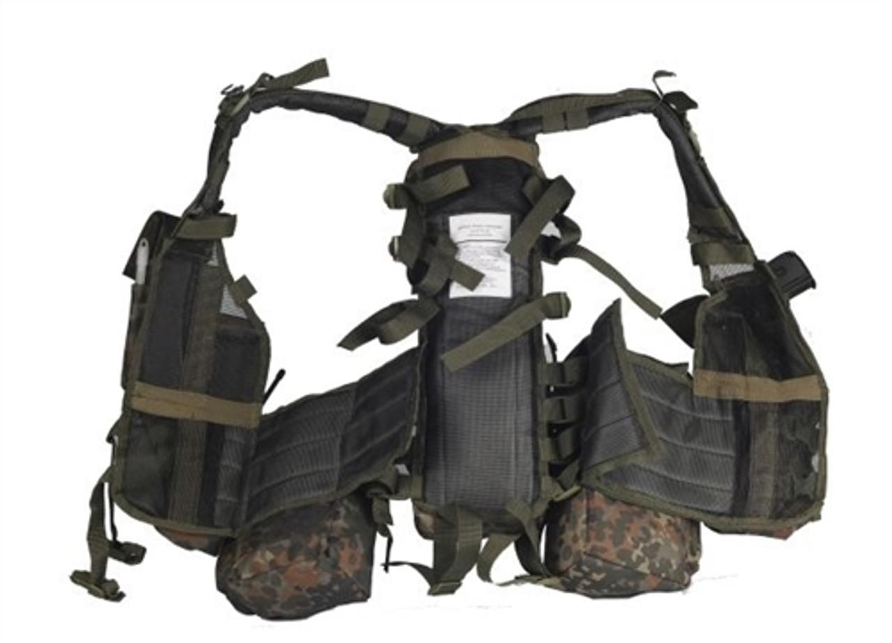 Mil-Tec Flecktarn 12 Pocket Tactical Vest from Hessen Antique