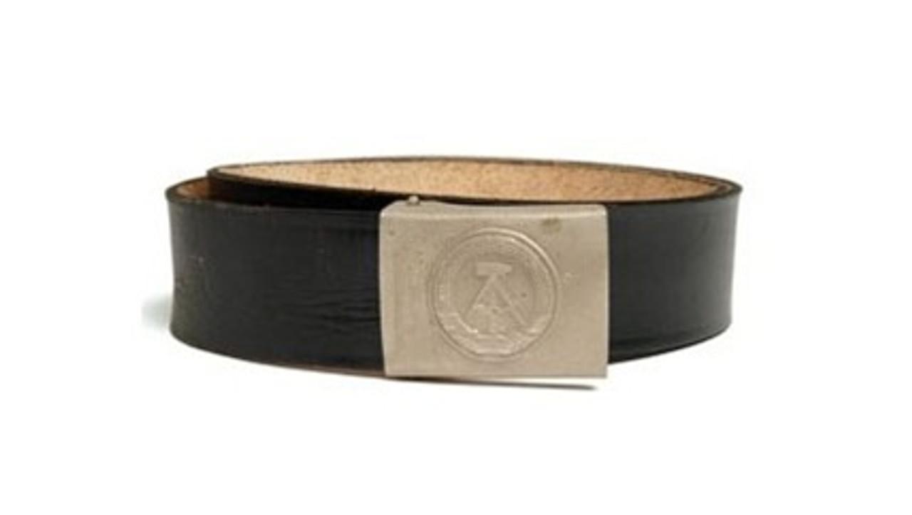 East German EM Leather Belt Hessen Antique