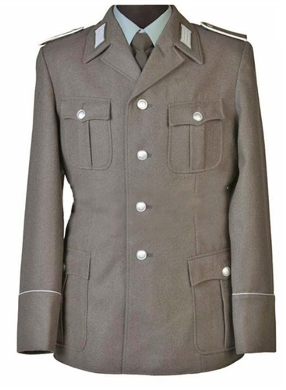 East German EM Grey Wool Service Jacket from Hessen Surplus
