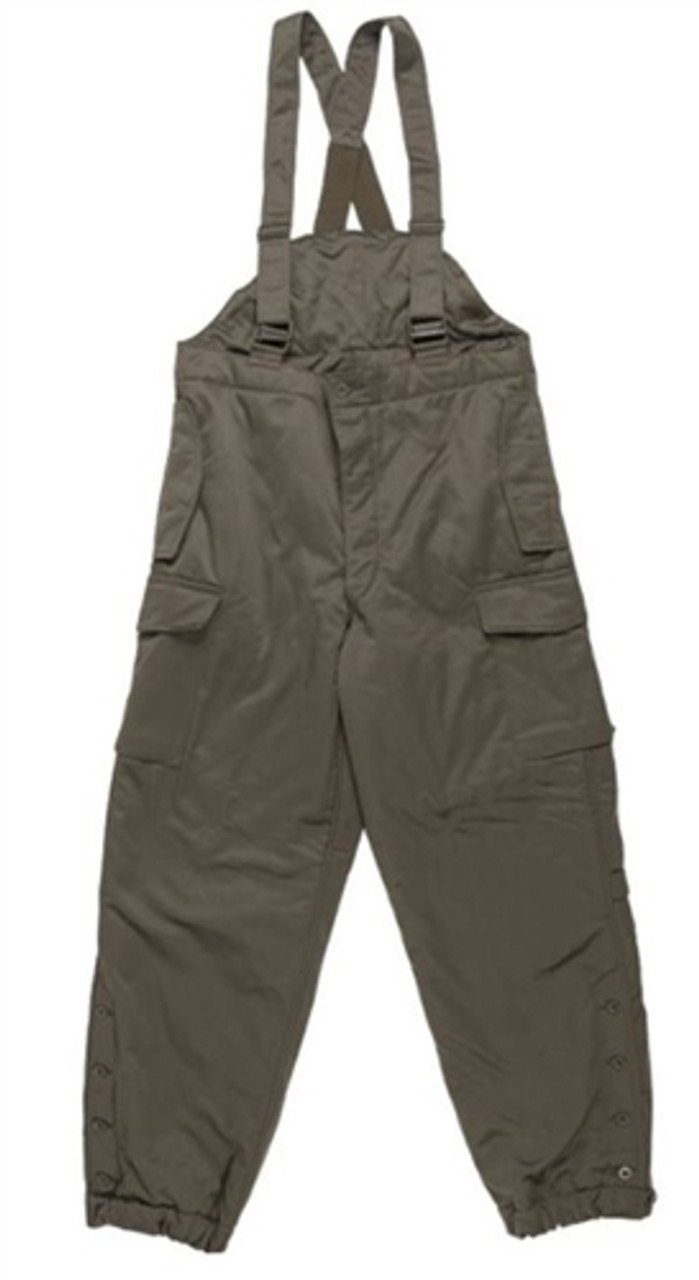 Austrian OD Insulated Winter Pants With Suspenders from Hessen Surplus