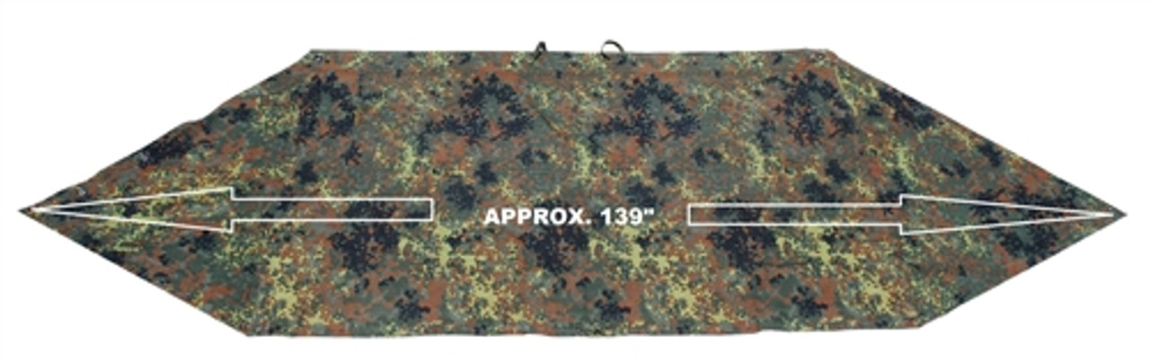 Bw Flecktarn Shelter Half from Hessen Antique