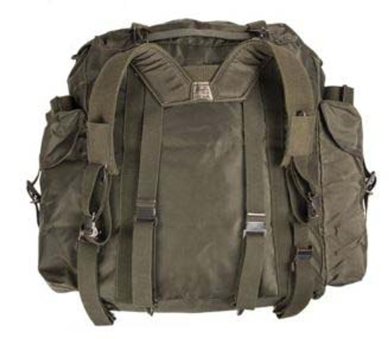 Austrian Army OD Nylon Rucksack With Suspenders from Hessen Antique