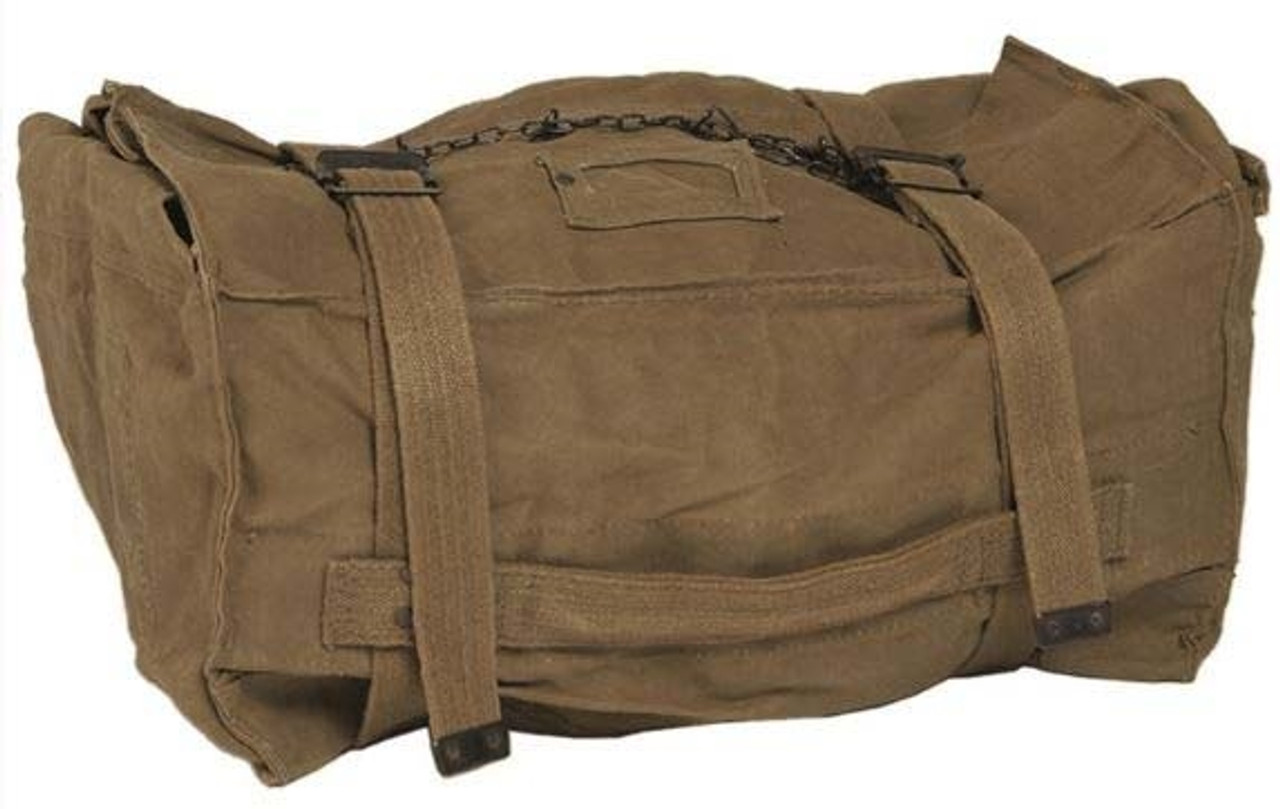 Italian Army Khaki Cotton Kit Bag from Hessen Antique