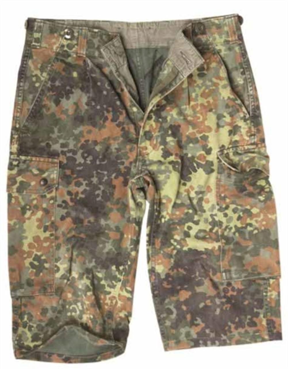 German Flectar Camo Field Shorts from Hessen Surplus