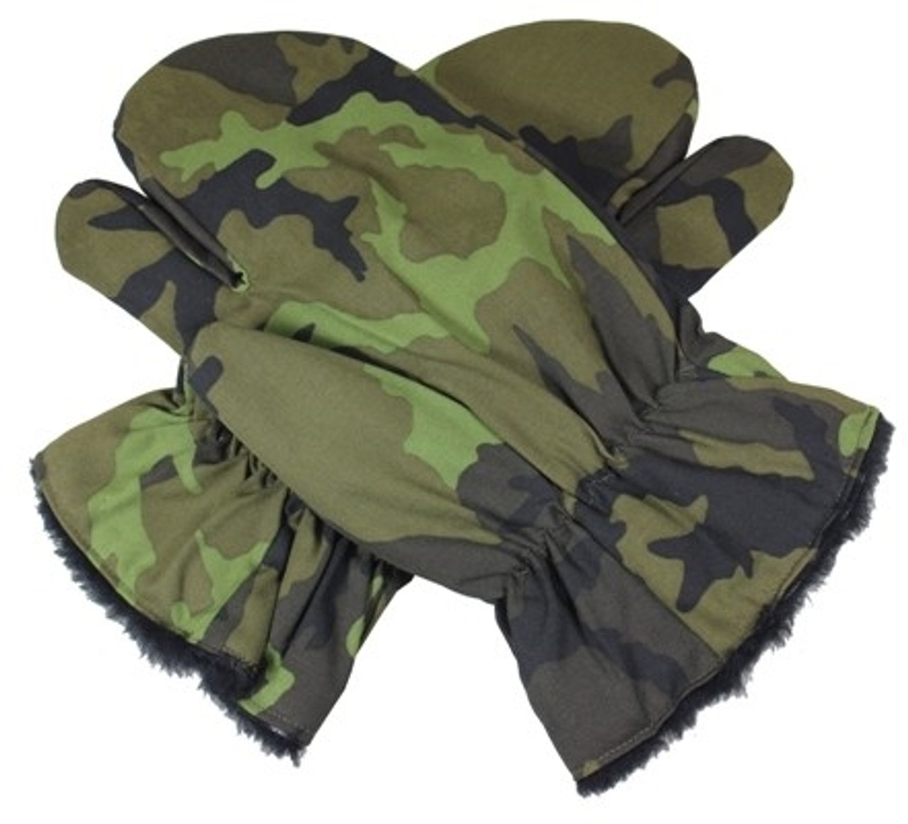 Czech M95 Camo Cold Weather Mittens from Hessen Antique
