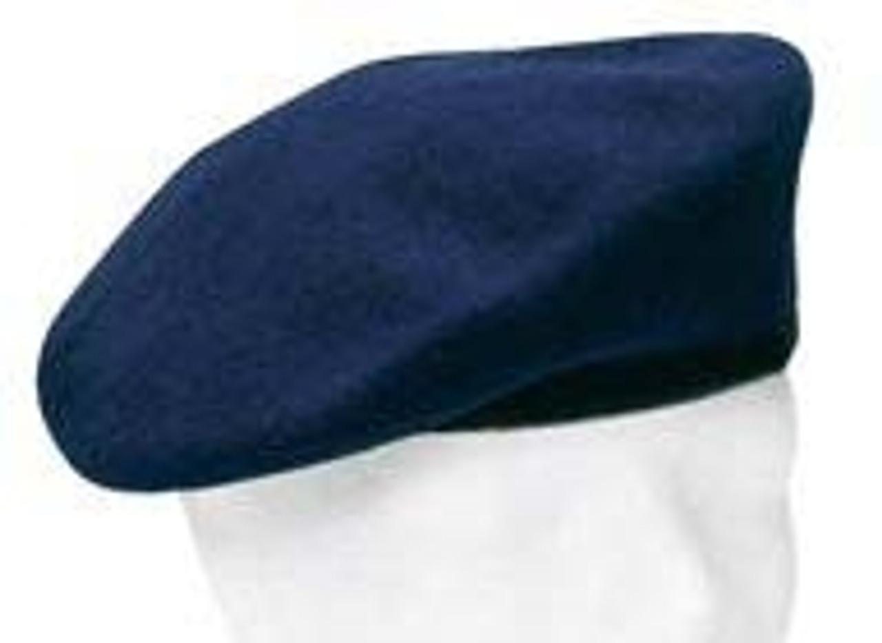 Bw Blue Wool Beret from Hessen Antique