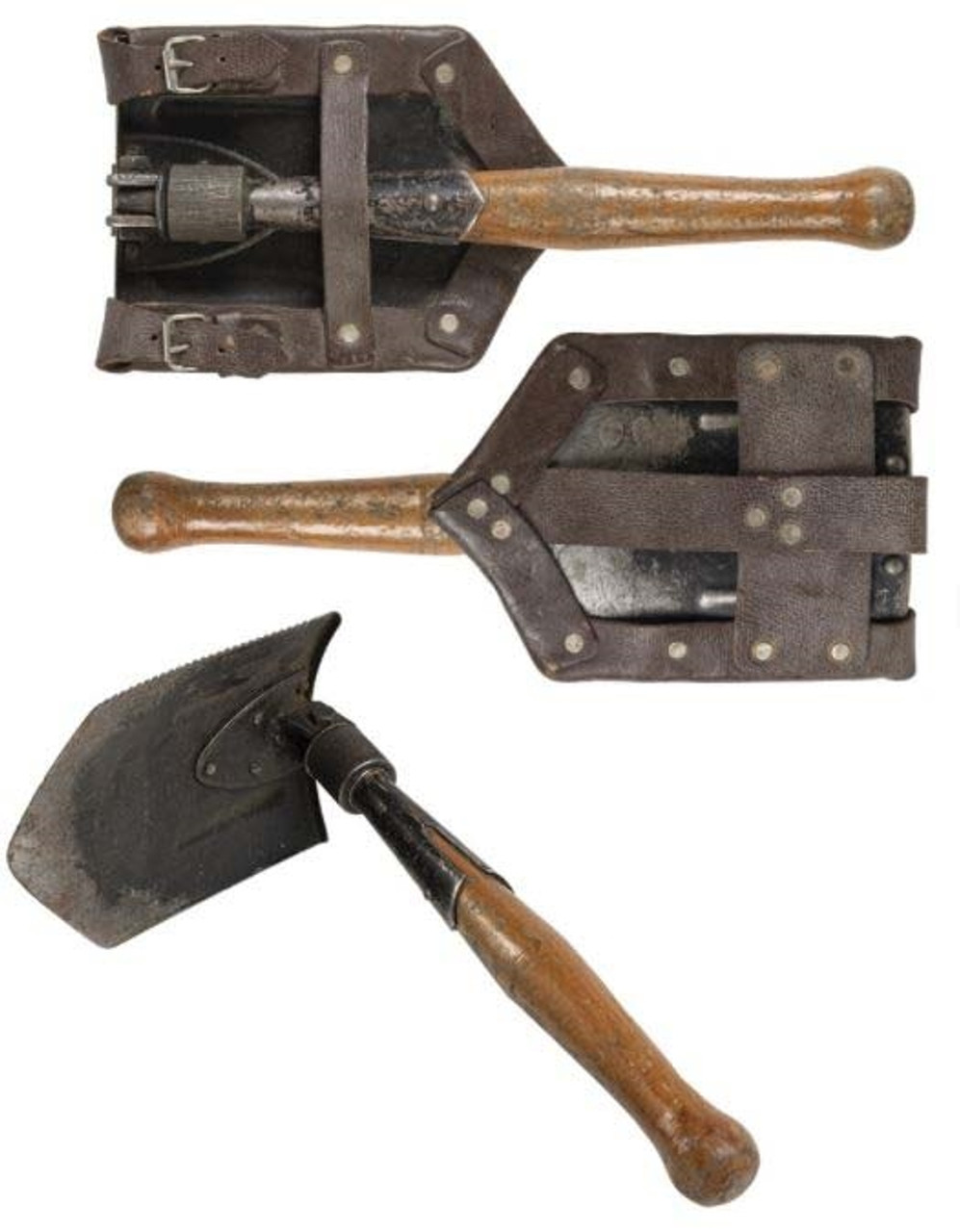 Romanian Folding Shovel With Cover