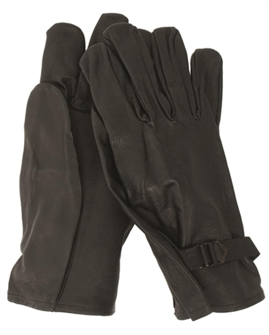 Belgium Black Leather Gloves from Hessen Antique