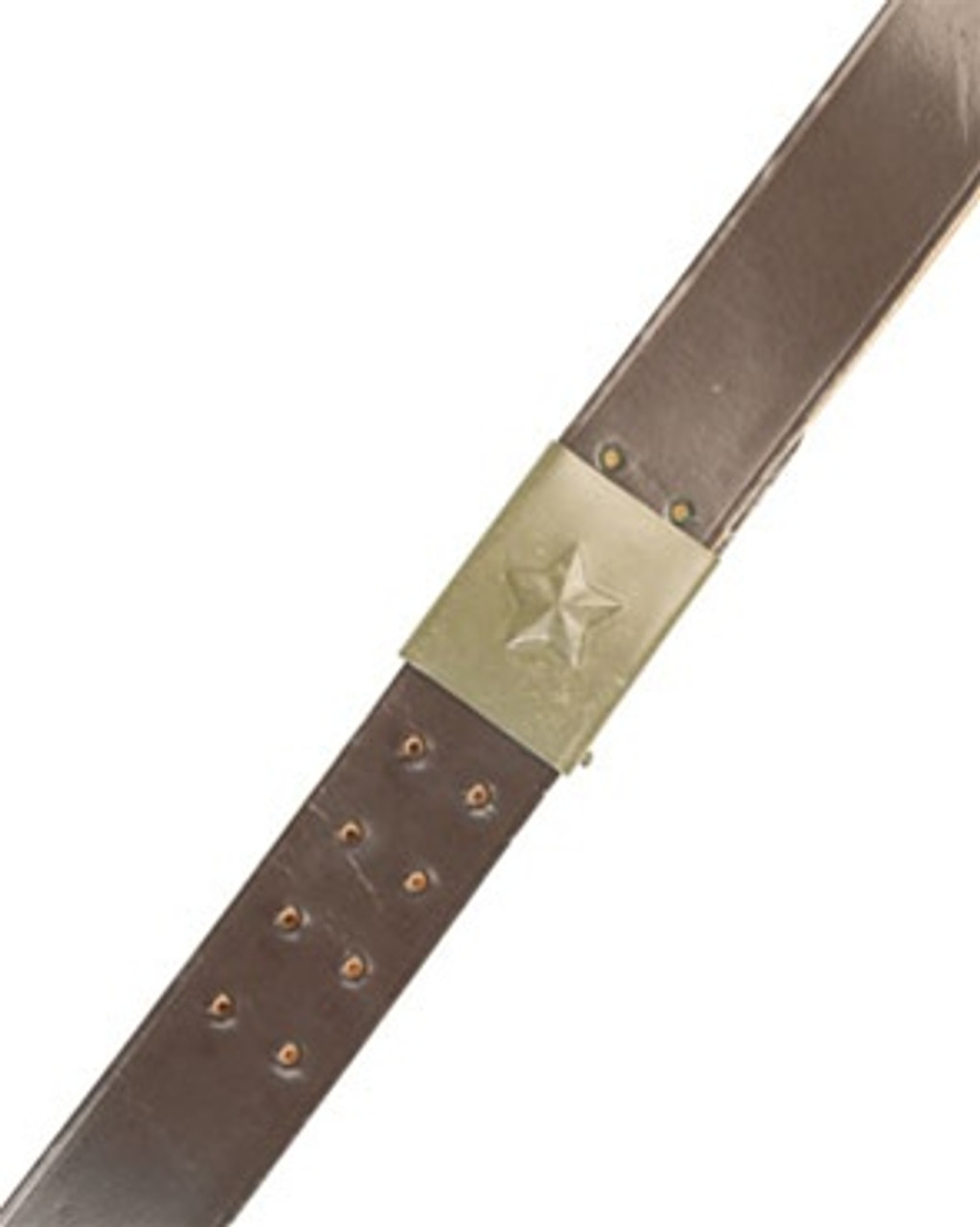 Czech Leather Belt With Buckle Hessen Antique