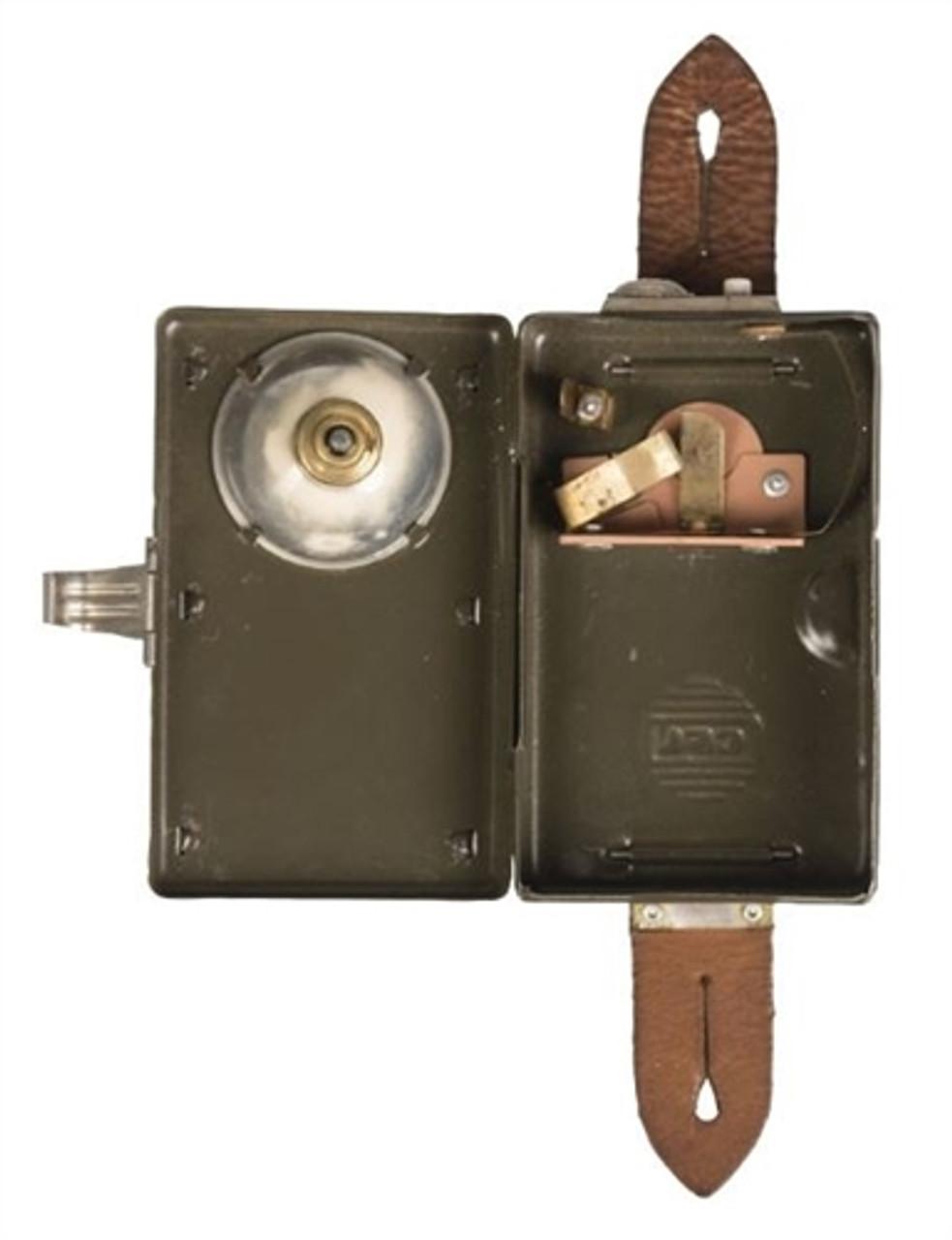 Polish Army Box Flashlight from Hessen Antique