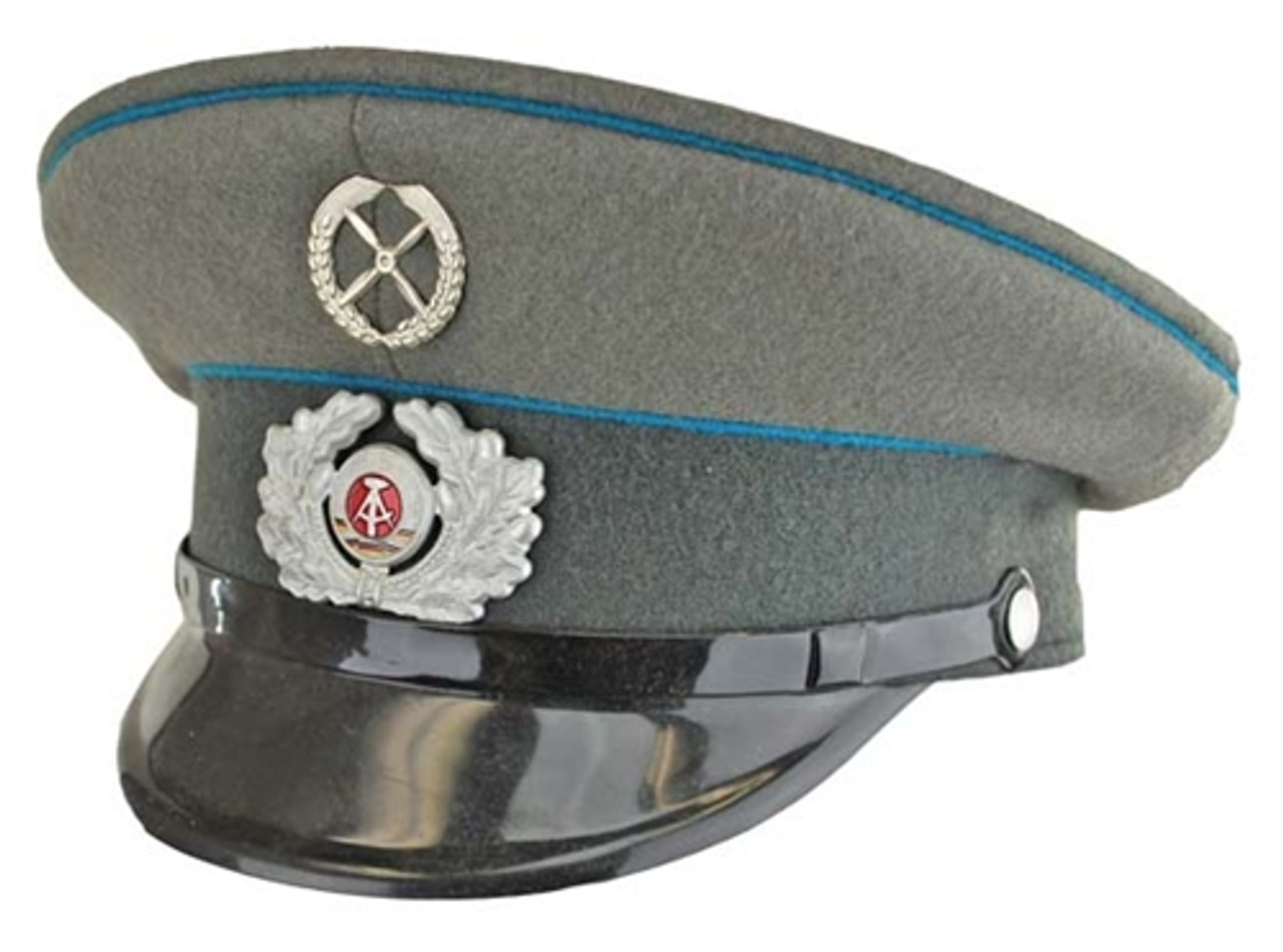 East German Air Force Enlisted Visor Hat - Like New from Hessen Surplus