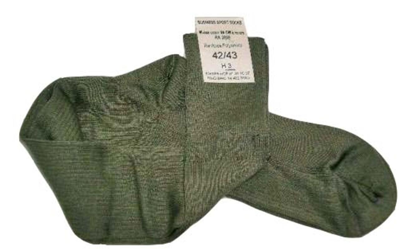 French OD Army Cotton Socks