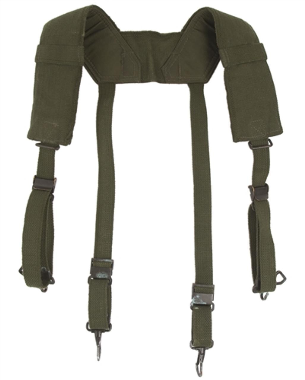 "Belgium OD ""H"" Style Field Suspenders from Hessen Antique"