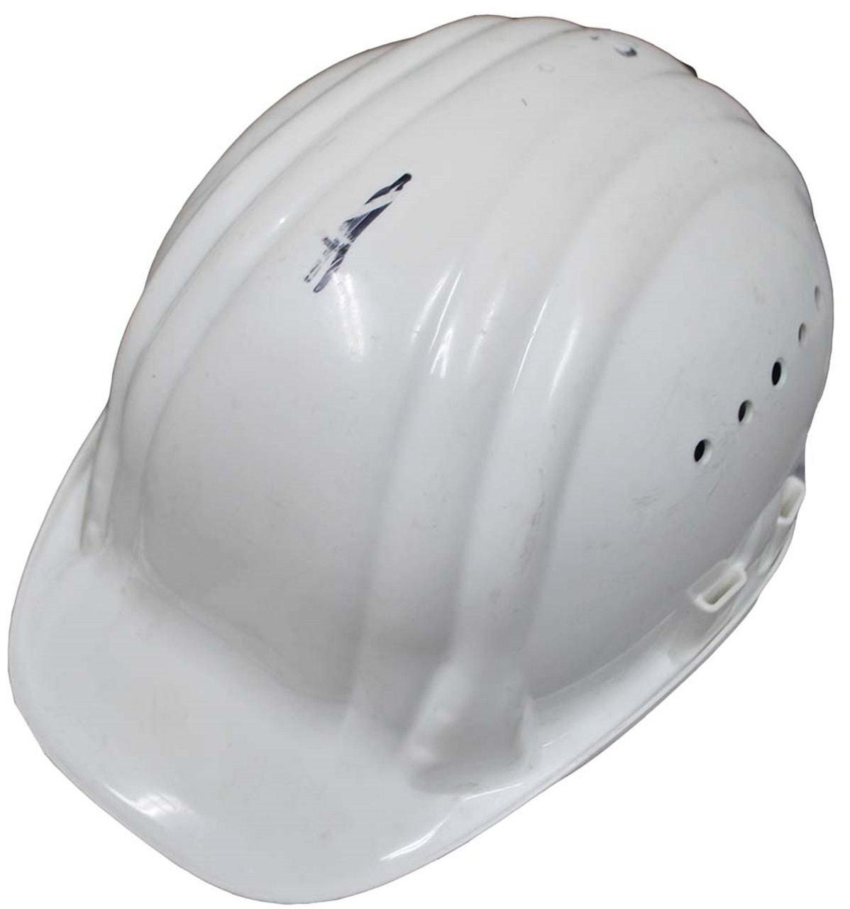 Bw Issue White Engineers/Construction Helmet from Hessen Antique