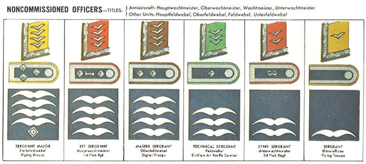 Luftwaffe Rank Insignia for Flight Clothing from Hessen Antique
