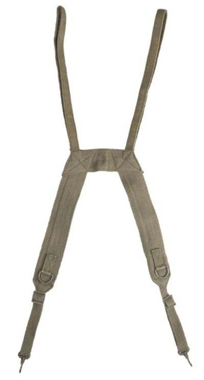 """French OD """"H"""" Style Field Suspenders from Hessen Antique"""
