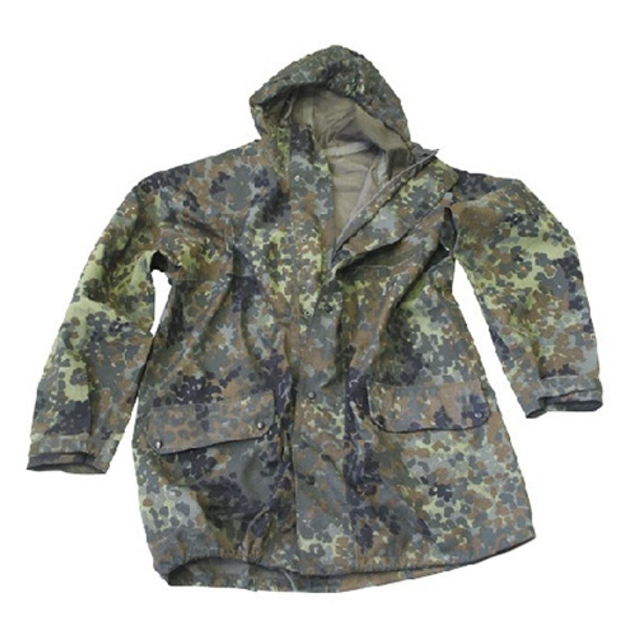 German Flectar Camo Wet Weather Jacket - Used from Hessen Surplus