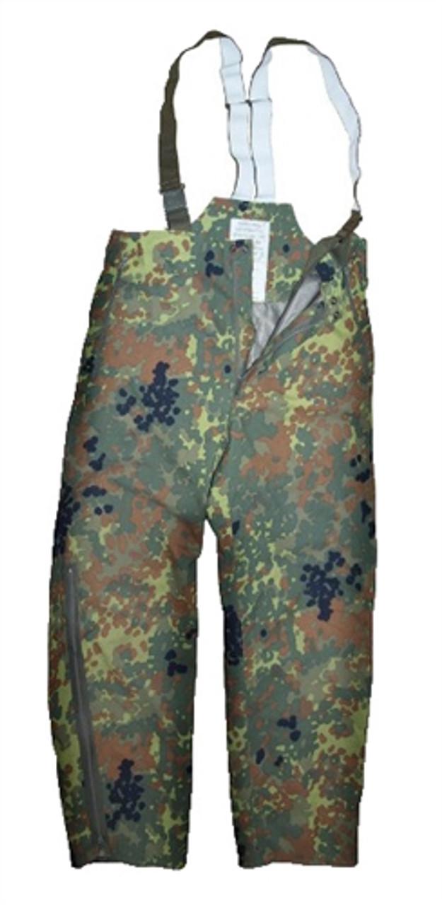 German Flectar Camo Wet Weather Pants from Hessen Surplus